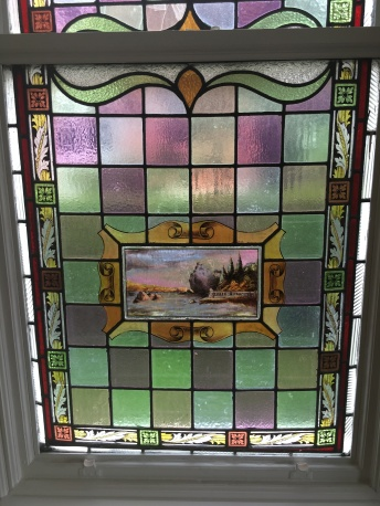 One of the stained glass windows in our house